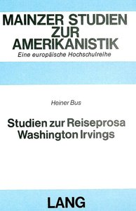 Studien zur Reiseprosa Washington Irvings