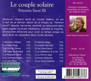 Feminin Sacre 3-Le Couple Solaire