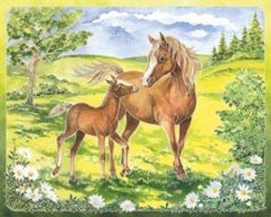 Ravensburger 29468 - Aquarelle Maxi, Glückliche Pferde, Bildgröß