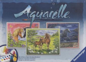 Ravensburger 29468 - Aquarelle Maxi, Glückliche Pferde, Bildgröß - zum Schließen ins Bild klicken