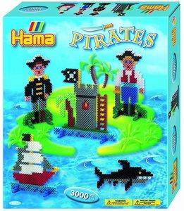 Hama 3229 - Geschenkpackung Piraten, Stiftplatte mit ca. 3000 Bü