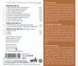 """Magnificat Wq. 215, Motette """"Heilig ist Gott"""" Wq. 217"""