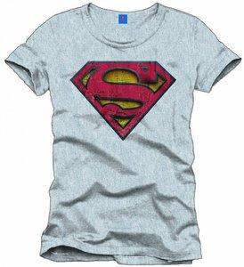 Superman - Vintage Logo - T-Shirt - Grau - Größe L