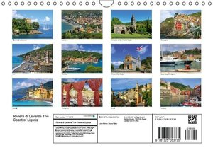 Riviera di Levante The Coast of Liguria (Wall Calendar 2016 DIN