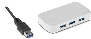 Speedlink NOBILÉ USB Hub - 4-Port - USB 3.0, silber