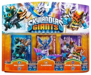 Skylanders: Giants - Triple Pack D: Flashwing, Gill Grunt, Doubl