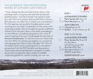 Glenn Gould-The Acoustic Orchestrations