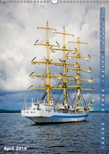 Stolze Segler: Mit dem Wind übers Meer (Wandkalender 2016 DIN A3