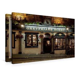 Premium Textil-Leinwand 90 cm x 60 cm quer Greyfriars Bobby Pub