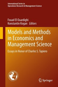 Models and Methods in Economics and Management Science
