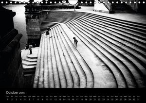 Dresden in Black & White (Wall Calendar 2015 DIN A4 Landscape)
