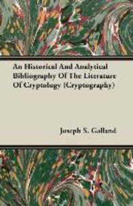 An Historical And Analytical Bibliography Of The Literature Of C