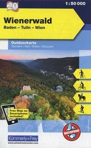 KuF Österreich Outdoorkarte 20 Wienerwald 1 : 50 000