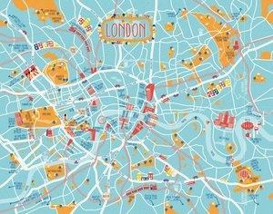 Fettnäpfchenführer Stadt-Poster London