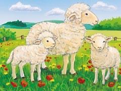 Tiere auf dem Bauernhof (12 Teile) - zum Schließen ins Bild klicken