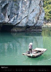 Ha Long Bay, Kreuzfahrt in Vietnam (Wandkalender 2017 DIN A2 hoc