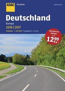 ADAC ReiseAtlas Deutschland, Europa 2016/2017 1:200 000