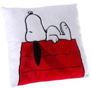 Heunec 587670 - Peanuts Snoopy auf Hütte, Kissen, 25x25cm