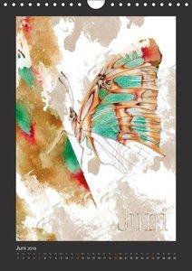 Papillon Art (Wandkalender 2016 DIN A4 hoch)