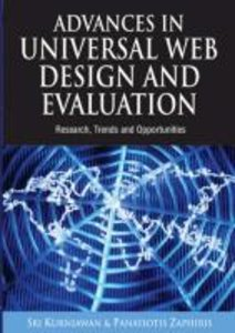Advances in Universal Web Design and Evaluation: Research, Trend