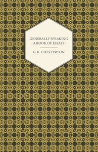 Generally Speaking - A Book of Essays
