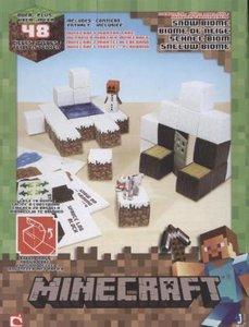 Minecraft 16712 - Schneebiom, Papierset, 48 Teile