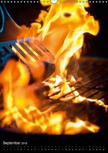 Feuerzauber - Einladung zum Grillen (Wandkalender 2016 DIN A3 ho