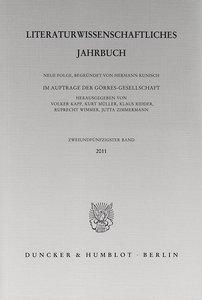 Literaturwissenschaftliches Jahrbuch Band 52/2011