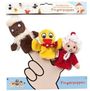 Heunec 986077 - Fingerpuppen Set: Sandmann, Pitti, Schnatterinch
