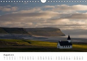 ISLAND 63° - 66° N / 13° - 25° W (Wandkalender 2016 DIN A4 quer)