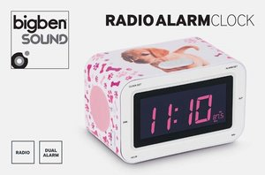 Radiowecker RR30 - Dogs II (LCD-Display dimmbar), RadioAlarmCloc