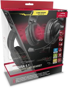 Speedlink MEDUSA 5.1 True Surround Headset, schwarz