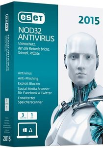 ESET NOD32 Antivirus 2015 Edition (3 PC/1Jahr) (FFP)