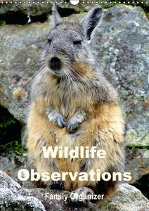 Wildlife Observations / Family Organizer (Wall Calendar 2015 DIN