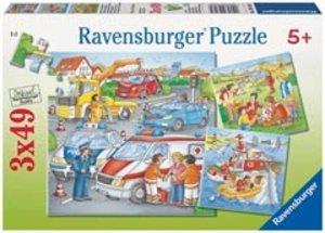 Ravensburger 09318 - Einsatz am Unfallort, Puzzle, 3x49 Teile
