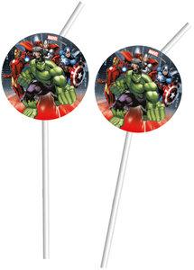 Marvel Avengers Power Strohhalm 6 Stück