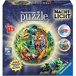 Ravensburger 12155 - Nachts im Dschungel, 72 Teile 3D Puzzle-Bal