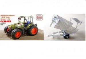 rcee 10095 - Metallbaukasten: Claas, Traktor mit Anhänger