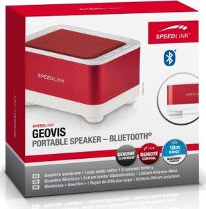 Speedlink GEOVIS tragbarer Bluetooth-Lautsprecher (USB), weiß/ro