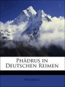 Phädrus in Deutschen Reimen