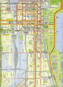 Chicago & Lake Michigan Map 1 : 12 500 / 1 : 1 000 000