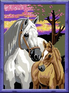 Ravensburger 282425 - Pferde im Sonnenuntergang