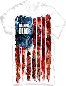 The Walking Dead - American Gore - T Shirt, Weiß, Größe XL