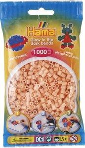 Hama 207-56 - Perlen leuchtfarben/pink, Leuchtperlen, 1000 Stück