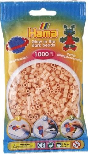 Hama 207-56 - Perlen leuchtfarben/pink, Leuchtperlen, 1000 Stück - zum Schließen ins Bild klicken