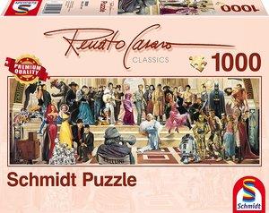 Schmidt 59381 - Renato Casaro, Panoramapuzzle, 100 Jahre Film, 1