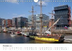 Hamburg / UK-Version (Wall Calendar 2015 DIN A4 Landscape)