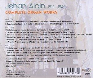 Jehan Alain: Sämtliche Werke für Orgel