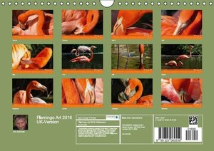 Flamingo Art 2016 UK-Version (Wall Calendar 2016 DIN A4 Landscap