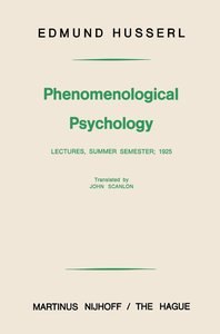 Phenomenological Psychology